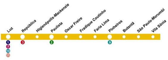 mapa-linha-4-amarela-do-metro